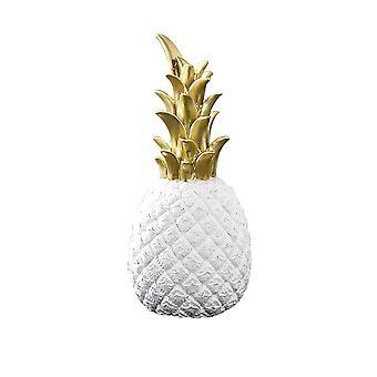 Creative Pineapple Shape Decoration White 15cm