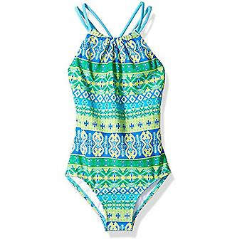 Kanu Surf Girls' Little Jasmine Beach Sport Halter One Piece Swimsuit, Mahina...