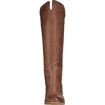 SoftWalk Womens Katia Leather Almond Toe Knee High Fashion Boots