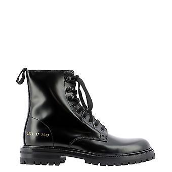 Common Projects 38727547 Women's Black Leather Enkellaarsjes