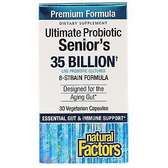 Natural Factors, Ultimate Probiotic, Senior's, 35 Billion CFU, 30 Vegetarian Cap