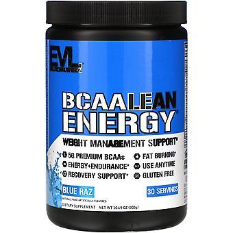 EVLution Nutrition, BCAA LEAN ENERGY, Blue Raz, 10.60 oz (303 g)