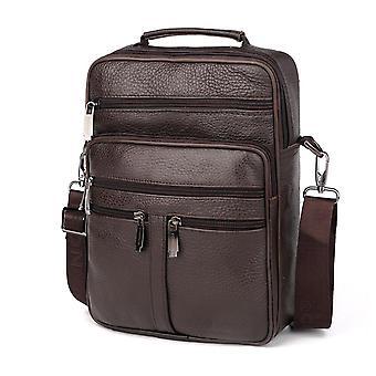Leather cross-body messenger bag for men