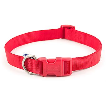 Ancol Nylon Adjustable Collar - Size 5-9 (18-28 inch) - Red