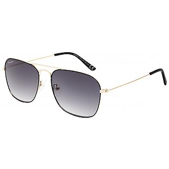 Sunglasses Unisex Aviator polarized gold/black (P88302/R)