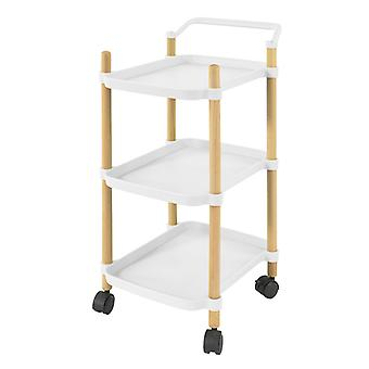 SoBuy SVW06-W,3 Tier Serving Trolley for Kitchen and Living Room