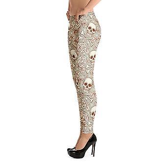 Modne legginsy | Czaszki i róże