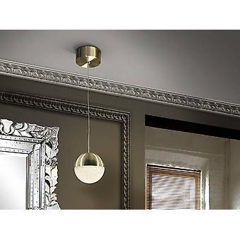 Schuller Sphere - Integrato LED Globe Soffitto Ciondolo Brass