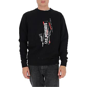 Les Hommes Ljh223782p9000 Men's Black Cotton Sweatshirt
