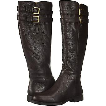 Franco Sarto Womens L-Christoff Leather Pointed Toe Knee High Fashion Boots