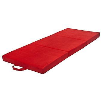 Foldbar madras 200x80x10 cm rød