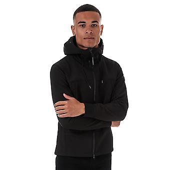 C.p. company men's soft shell black jacket