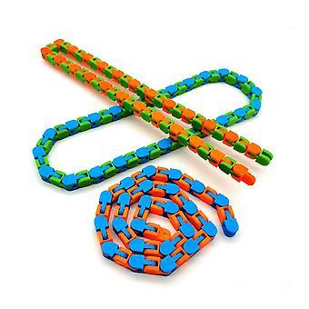 Lustige Fidget Kette Anti Stress Spielzeug für Kinder Erwachsene - Fahrrad Kette Fidget Armband Puzzle pädagogische Spielzeug zufällige Farbe Geschenke