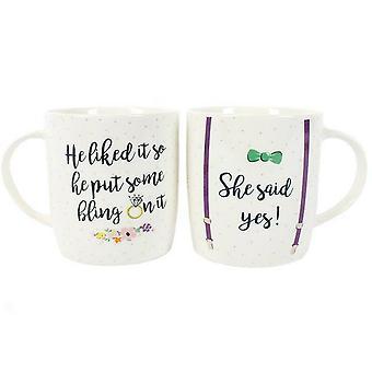 Quelque chose de différent, elle a dit oui! Set de Mug de Chine