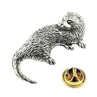 Ties Planet Otter Engels Pewter Lapel Pin Badge