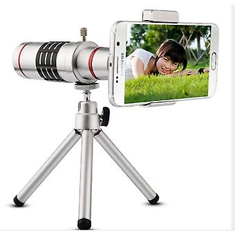18x Zoom Optical Telescope Telephoto Lens Universal Phone Camera Lens With Tripod Clip Kit For iPhone Samsung Mobile Phone