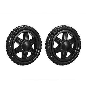 2pcs  Shopping Cart Wheel ,replacement Rubber Foaming Black