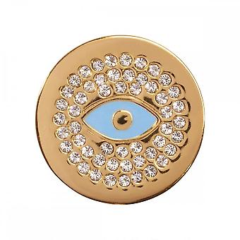 Nikki Lissoni Evil Eye Small Gold Plated Coin C1283GS