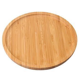 Holz Runde Serviertablett für Kaffee Essen Frühstück Abendessen 20x20cm