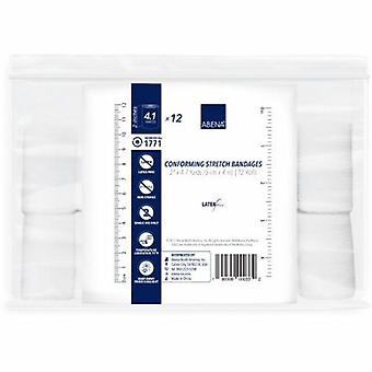 Abena konforme Verband Baumwolle 1-Ply 2 Zoll X 4-1/10 Yard Rolle Form nonSterile, 12 zählen