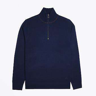 PS Paul Smith  - Zip Neck Pullover - Navy