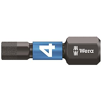 Wera 840/1 Impaktor Insert Bit Hex-Plus 4mm x 25mm Carded WER073904