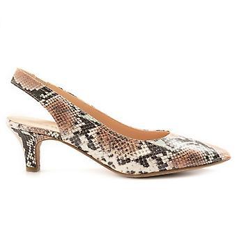 Sangiorgio Naisten kenkä painetussa nahassa keskikorkoinen