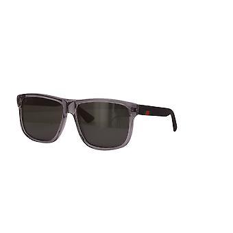 Gucci GG0010S 004 Crystal Grey/Spolaryzowane szare okulary przeciwsłoneczne