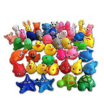 Mixed Animals Design, Soft Rubber, Squeeze-sounding Bathing Toy