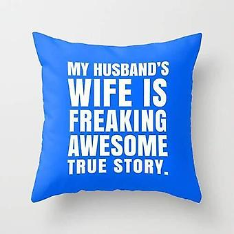 Mand Wife Pillow Cover