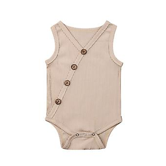 Summer Newborn Toddler Cotton Solid Jumpsuit Bodysuit Outfit