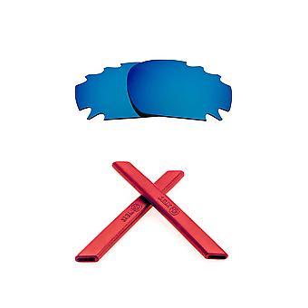 الاستقطاب استبدال عدسة عدة ل Oakley تنفيس سباق سترة زرقاء مرآة حمراء لمكافحة خدش الأشعة فوق البنفسجية 400 SeekOptics