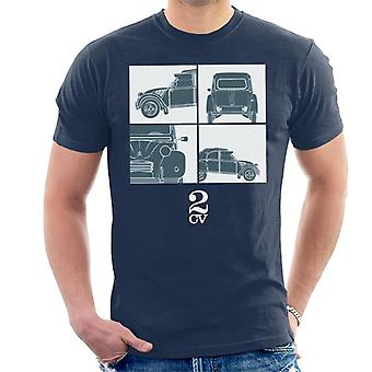 Citro�n 2CV White Glamour Close Ups Men's T-Shirt