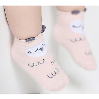 Baby Anti-slip Spring Cute Toddler Cartoon Asymmetry Autumn Winter Cotton Socks