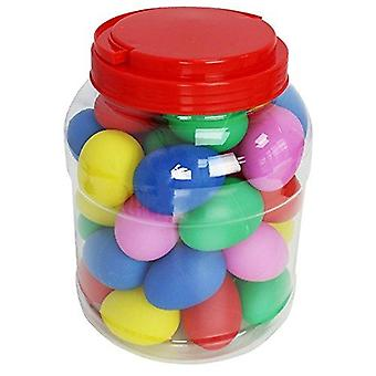 A-star multicoloured egg shakers - box of 40 20 pairs