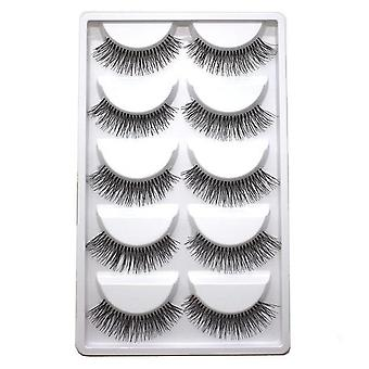 Handmade Natural Extended, Mink False Eyelashes - Beauty Makeup