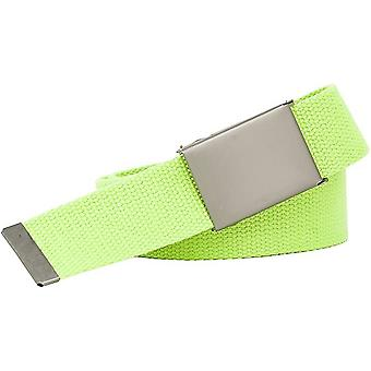 Extra Strong Neon Green Fabric Belt 4cm wide 140cm Quality Buckle Overlength