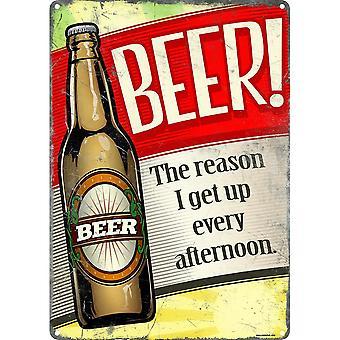 Grindstore øl grunden til at jeg får op hver eftermiddag plaque