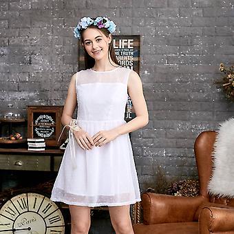 Gestippelde mesh jurk