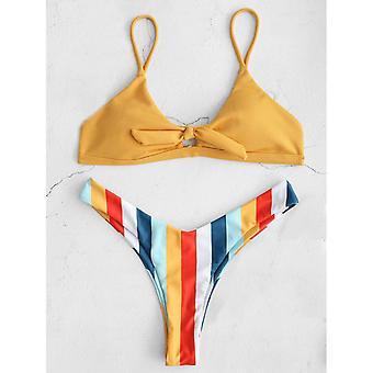 Trojuholník pruhované Sexy Push Up Plavky