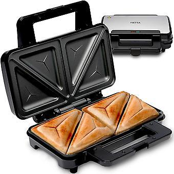 NETTA Deep Fill Toastie Maker | 2 Slice Sandwich Toaster| 900W |Black |