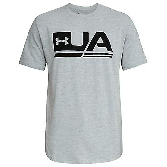 Under Armour Sportstyle Graphic T-Shirt Mens Logo Top Grey 1318562 100