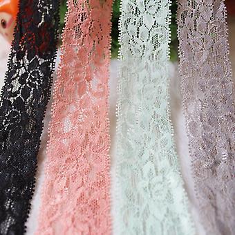 40Yards blandade färger Lace Trimning 1,5 tums elastiska spetsar band för sömnad Het decor