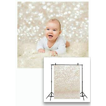 Lywygg 5x7ft golden spots photography backdrop shinning sparkle sand scale background vinyl bokeh pr