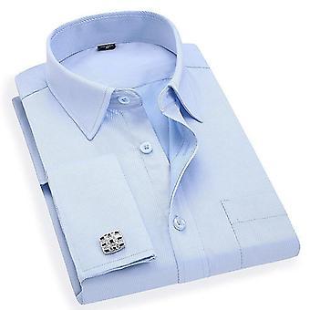 Fransk Mansjettknapper Casual Dress Skjorter