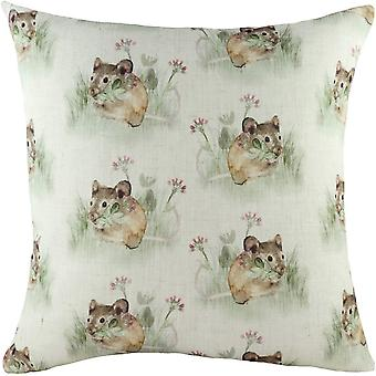 Evans Lichfield Hedgerow Mouse Cushion Cover