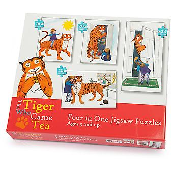 University Games Tiger Who Came to Tea 4in1 Puzzle