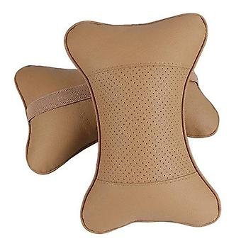 Artificial Leather Car Pillow Protection Of Neck/ Headrest Hole-digging Design/