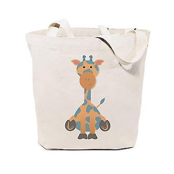 Borsa tote in tela in cotone giraffa
