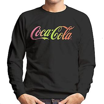 Coca Cola Rainbow Gradient Logo Men's Sweatshirt